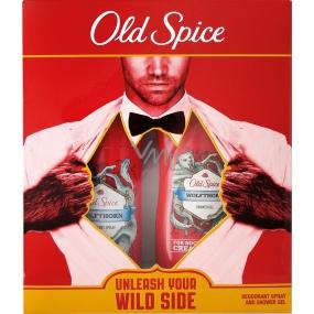 Old Spice Wolfthorn deodorant sprej pro muže 125 ml + sprchový gel 250 ml, kosmetická sada