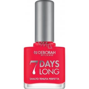 Deborah Milano 7 Days Long Nail Enamel lak na nehty 870 Coral Red 11 ml
