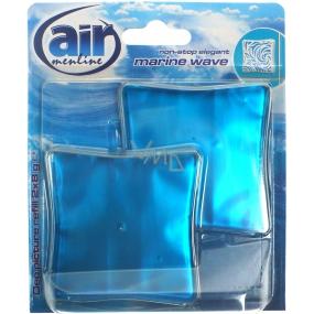 Air Menline Deo Picture Non Stop Elegant Marine Wave gelový osvěžovač vzduchu náhradní náplň 2 x 8 g