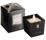 jFenzi Lili Ardagio Sojová vonná svíčka s vůní parfému Giorgio Armani Si Intense Ručně vyrobena černá 200 g