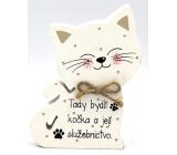 Nekupto Mazlíčci Dřevěná cedulka Tady bydlí kočka a její 12 x 9 x 1,5 cm