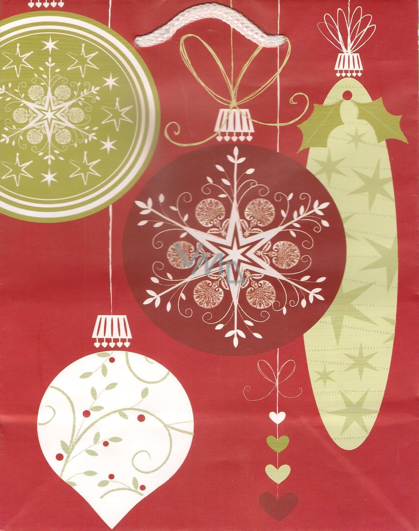Albi Dárková papírová taška střední 23 x 18 x 10 cm Vánoční TM3 96241