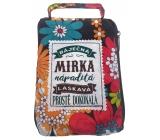 Albi Skládací taška na zip do kabelky se jménem Mirka 42 x 41 x 11 cm