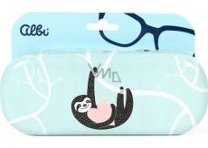 Albi Original Pouzdro na brýle plechové Lenochod 15,7 x 6,2 x 3,2 cm