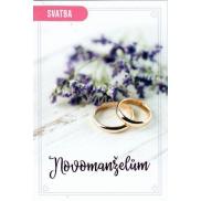 Nekupto Přání k svatbě Novomanželům 115 x 170 mm 3464 F