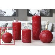 Lima Ledová svíčka červená koule 80 mm 1 kus