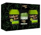 Nature Box Avokádo Regenerační sprchový gel se 100% za studena lisovaným olejem, vhodné pro vegany 385 ml + tělové mléko 385 ml + termohrnek, kosmetická sada