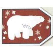 Nekupto Vánoční kartičky na dárky lední medvěd 5,5 x 7,5 cm 6 kusů