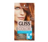Schwarzkopf Gliss Color barva na vlasy 7-7 Měděný tmavě plavý 2 x 60 ml