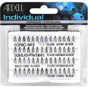 Ardell Duralash Naturals Combo Pack Black umělé nalepovací trsy černé 56 kusů