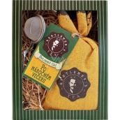 Bohemia Gifts & Cosmetics Bylinný sypaný čaj pro gentlemana Po náročném večeru + sítko na čaj 1 kus, dárková sada