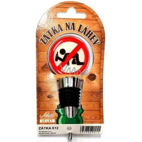 Nekupto Nerezová zátka na víno 012 Na kolenou. Už nepij