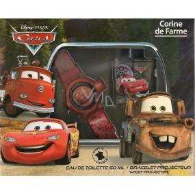 Corine De Farme Cars toaletní voda pro chlapce 50 ml + hodinkový projektor, dárková sada