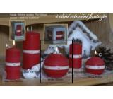 Lima Aura Vánoční fantazie vonná svíčka červená koule 100 mm 1 kus