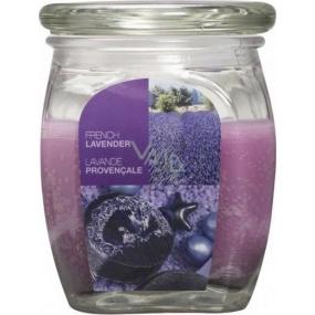 Bolsius Aromatic French Lavender - Francouzská Levandule vonná svíčka ve skle 92 x 120 mm 830 g, doba hoření 100 hodin