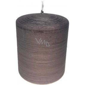 Lima Alfa svíčka světle hnědá válec 80 x 100 mm 1 kus