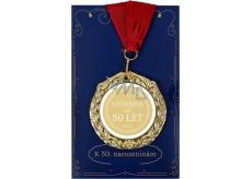Albi Papírové přání do obálky Přání s medailí - 50 let W