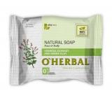 O Herbal Natural Verbena a zelená hlína přírodní toaletní mýdlo 100 g