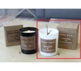 Lima Natur Wick Black & White Vanilka a skořice Aroma svíčka dřevěný knot bílá 175 g 1 kus