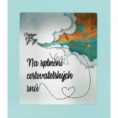 Albi Pokladnička v rámečku Na splnění cestovatelských snů 14 cm x 16 cm x 10 cm