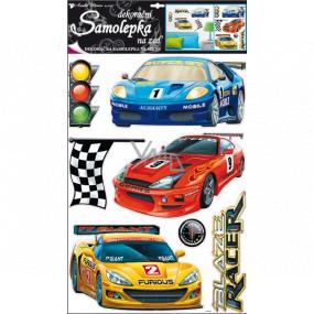 Samolepky na zeď Závodní auta 60 x 42 cm