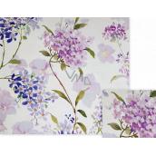 Nekupto Dárkový balicí papír 70 x 150 cm Fialové květy