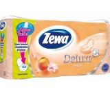 Zewa Deluxe Aqua Tube Cashmere Peach parfémovaný toaletní papír 3 vrstvý 150 útržků 8 kusů, rolička, kterou můžete spláchnout