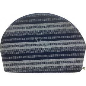 Etue Látková tmavě modro-bílý proužek 12 x 8 x 4 cm 70290