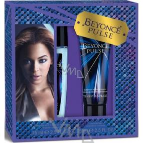 Beyoncé Pulse parfémovaný deodorant sklo pro ženy 75 ml + sprchový gel 75 ml, kosmetická sada