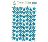 Arch Holografické dekorační samolepky modré hvězdičky 1 arch