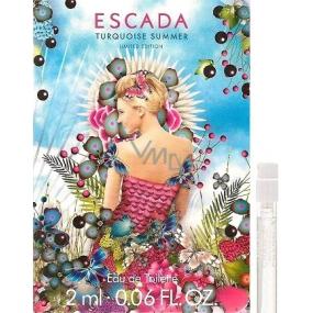 Escada Turquoise Summer toaletní voda pro ženy 2 m s rozprašovačeml, Vialka