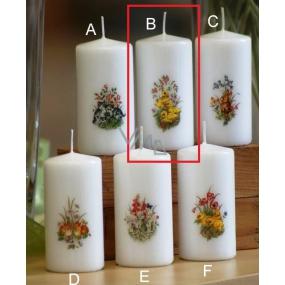 Lima Jarní motiv Kačenky svíčka bílá válec 50 x 100 mm 1 kus