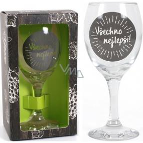 Albi Můj Bar Sklenka na víno Všechno nejlepší! 220 ml
