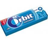 Wrigleys Orbit Peppermint žvýkačky bez cukru dražé 10 kusů 14 g