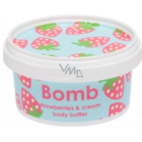 Bomb Cosmetics Krémové jahodové tělové máslo 210 ml