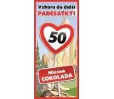 Bohemia Gifts Mléčná čokoláda Vše nejlepší 50, dárková 100 g