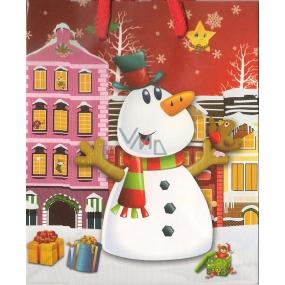 Nekupto Dárková papírová taška malá 14 x 11 x 6,5 cm vánoční 1196 30 WBS