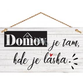 Bohemia Gifts Dekorační obraz na zavěšení Domov ... 13 x 24 cm