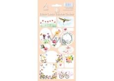 Arch Samolepky do domácnosti, na dárky Květiny růžové 3586 14 etiket
