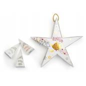 English Tea Shop Bio Hvězda Sladký vanilkový chlebíček + Pikantní směs + Bílý čaj, lychee, kakao + Slavný den + Šťastné Vánoce + Ovocný pikantní koláč, 6 kusů pyramidek sypaného čaje, 12 g, dárková sada k zavěšení
