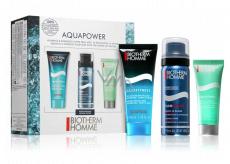 Biotherm Homme Aquafitness sprchový gel pro muže 40 ml + Foam Shaver pěna na holení 50 ml + Aquapower hydratační krém 20 ml, kosmetická sada