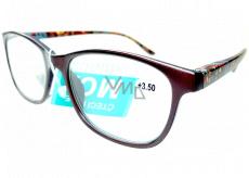 Berkeley Čtecí dioptrické brýle +3,5 plast hnědé, barevné postranice 1 kus MC2193