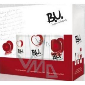 B.U. Heartbeat toaletní voda 50 ml + tělové mléko 75 ml + deodorant sprej 150 ml, pro ženy dárková sada