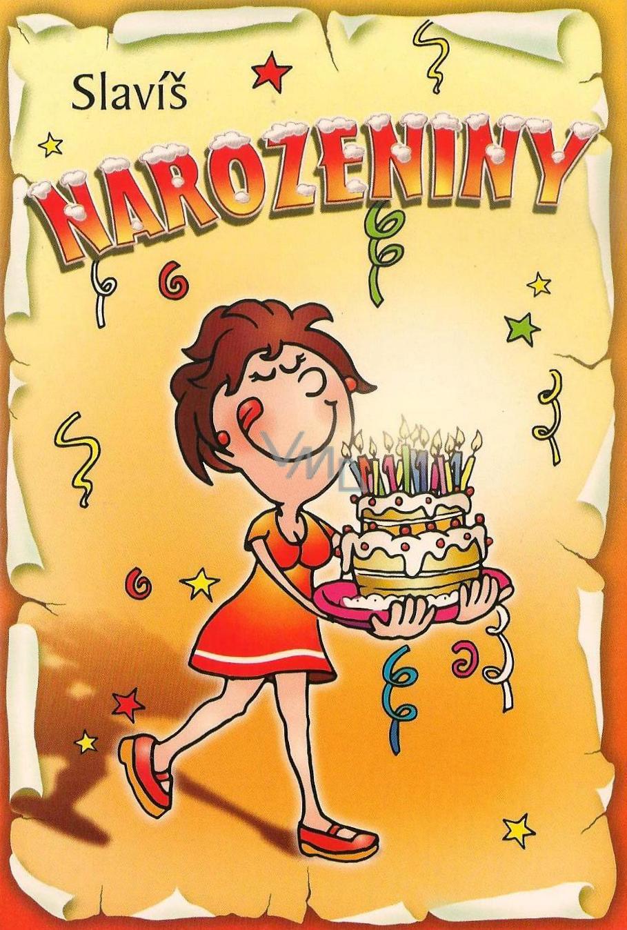 přání k narozeninám narozeniny Nekupto Přání k narozeninám Slavíš narozeniny G 31 3230   VMD  přání k narozeninám narozeniny