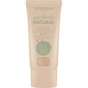 Deborah Milano Perfect & Natural Foundation SPF15 make-up 00 Ivory 30 ml