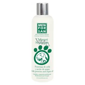 MenForSan Hedvábné protejny a Arganový olej přírodní šampon pro psy 300 ml