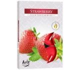 Bispol Aura Strawberry - Jahody vonné čajové svíčky 6 kusů