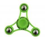 Fidget Spinner Gyro s kuličkami antistresová vychytávka zelený 6,5 x 6,5 cm