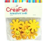 CreaFun Slunce dřevěné 3,5 cm 8 kusů