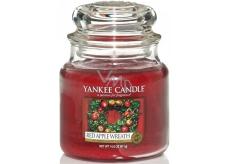 Yankee Candle Red Apple Wreath - Věnec z červených jablíček vonná svíčka Classic střední sklo 411 g